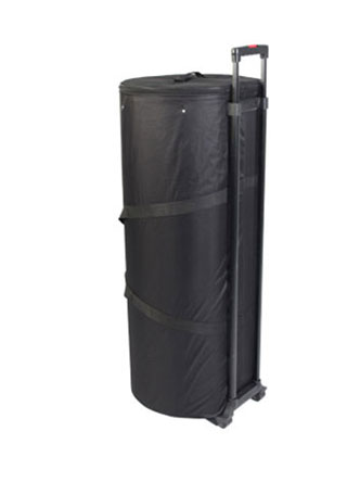 Portable counter - transported in a semi-rigid wheeled carry bag.