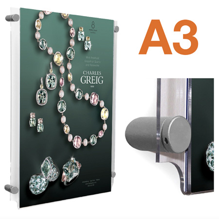 A3 poster holders with 4x mounts