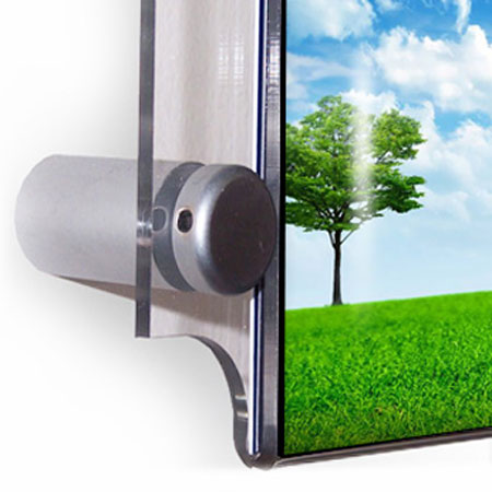 Satin silver wall mount pocket supports. 4x per pocket.