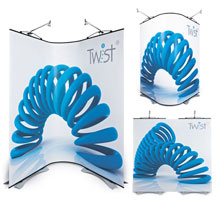 3 Panel Flexi-Link Twist Banner Stands