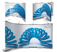 7 Panel Flexi-Link Twist Banner Stands