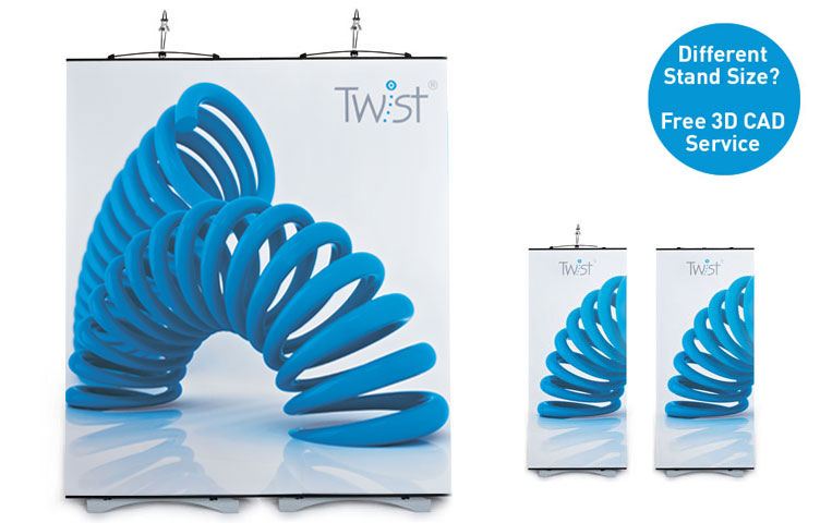 Twist 2 Panel Straight Kit| Linkable Banner Stands | RAL Display