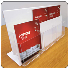 Double Tier A4 6 Pocket Leaflet Holder
