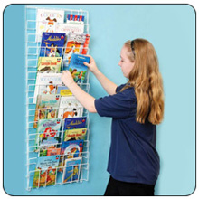 Vertical Wall Mount Wire Book Rack