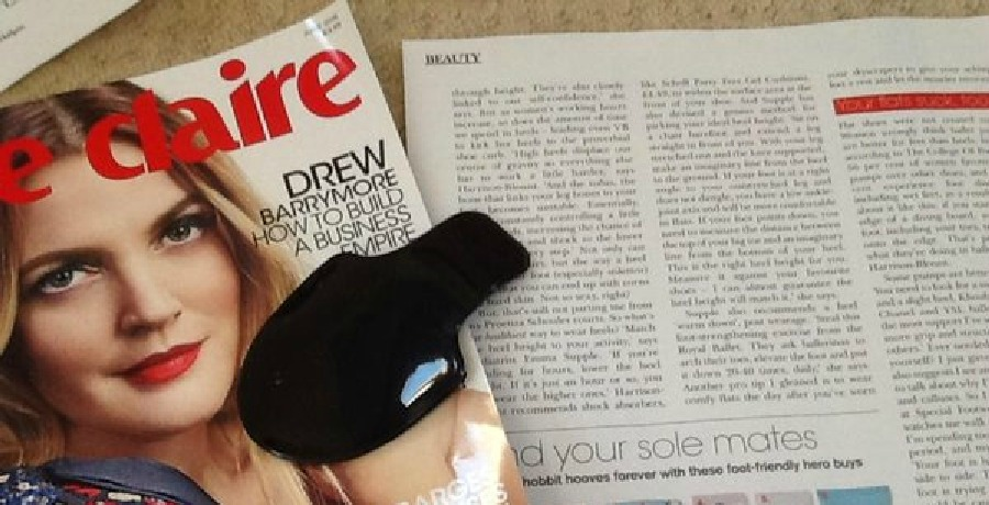 Article in Marie Claire reviewing SuppleArches and Perfect Heel Height