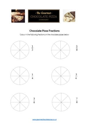 Chocolate Pizza Fractions