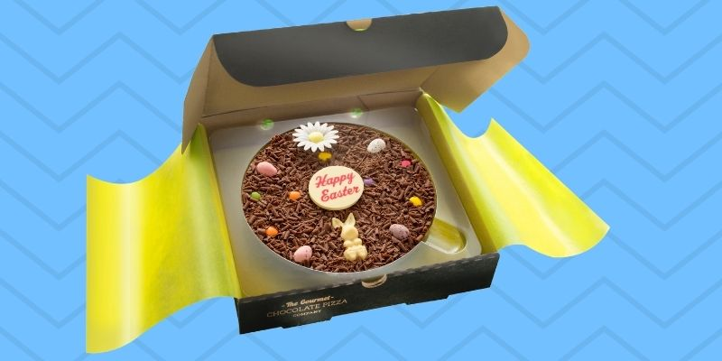 A pizza of the Easter action: Easter chocolate that's designed to stand out!