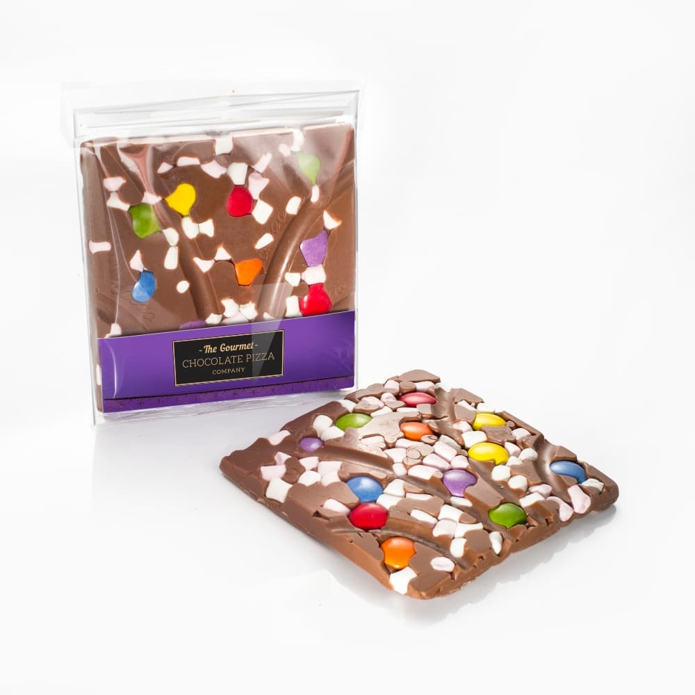 Marshmallow & Chocolate Drops Bar - set in a milk chocolate base
