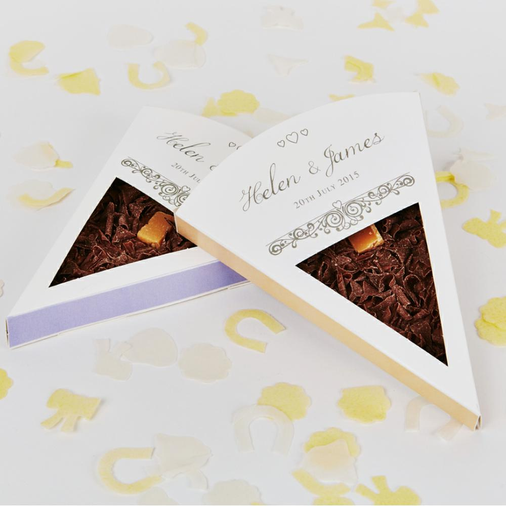 Regal Silver chocolate wedding favour design