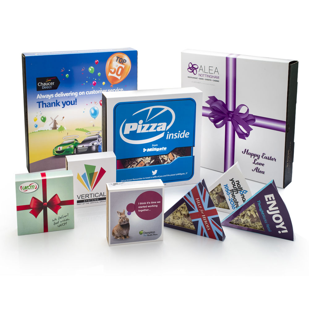 A selection of some of the corporate gifts we've produced in the past