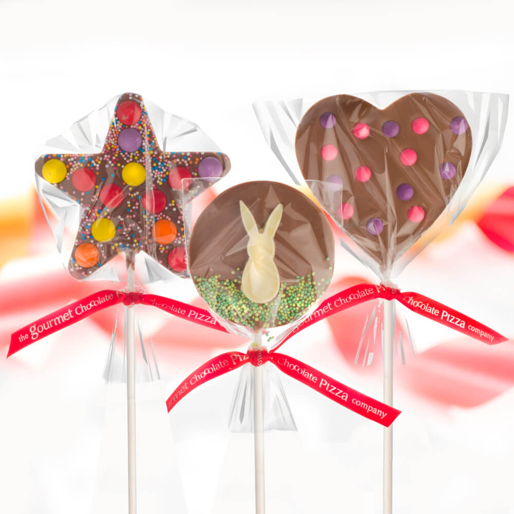 Chunky Chocolate Lollipops in various styles