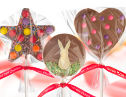 Three Chocolate Lollipops