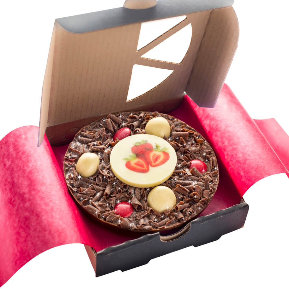 Strawberry Sensation Mini Chocolate Pizza