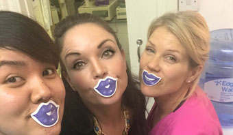 Blue Lip Selfies in aid of Mouth Cancer Awareness