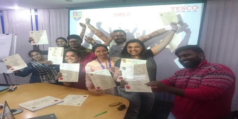 Happy delegates at Tesco in Bangalore