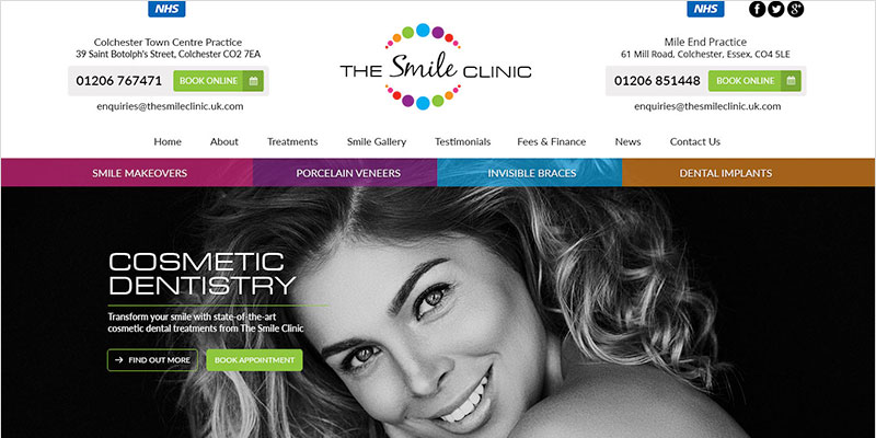 The Smile Clinic new website
