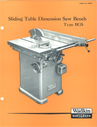 Wadkin BGS Panel Saw