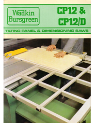 Wadkin CP CPD Panel Saw