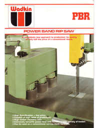 Wadkin PBR Band Resaw