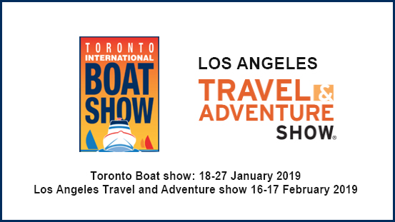 Boat and travel show schedule 2019