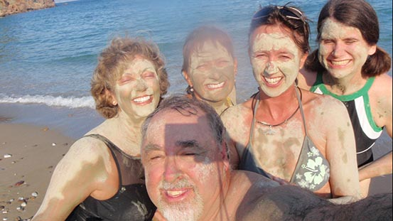 Sailing in Greece: Mud baths in Paros