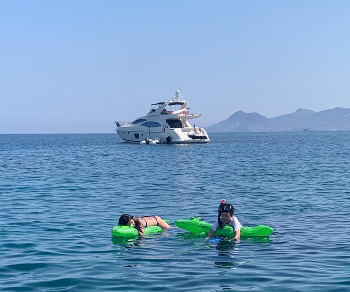 Sailing in Greece aboard a luxury motor yacht
