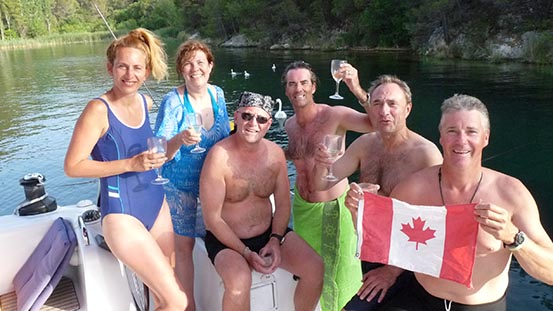 Sailing in Croatia: Canada Day and Independence Day celebrations in Croatia