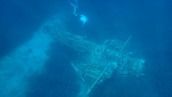 Sailing in Greece: Aegean Adventure dive on WWII Messerschmitt