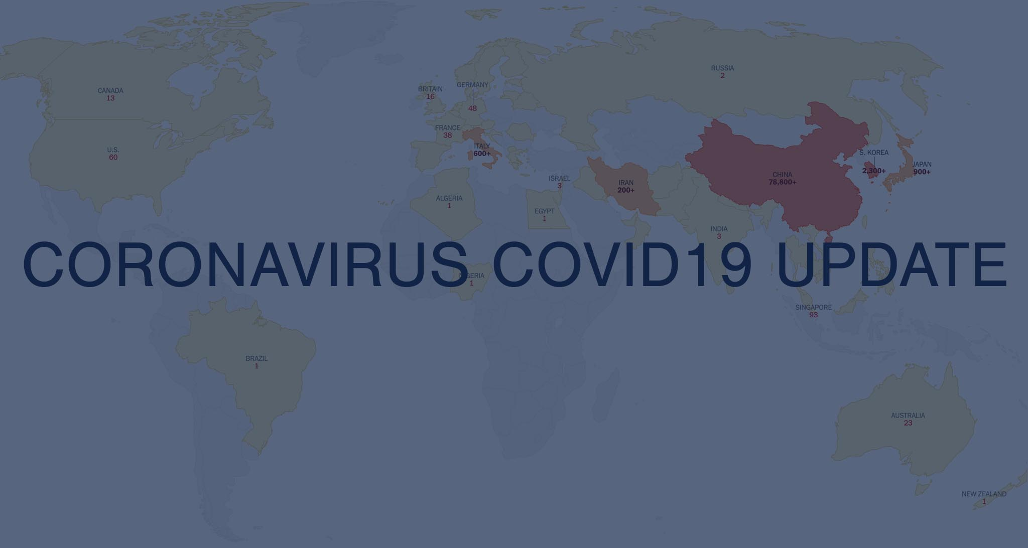 Travel update Coronavirus